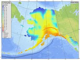 earthquake hazard map information by region alaska