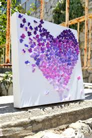 Romantic Decor And More Purple Ombre Butterfly Heart 3d Butterfly Wall Art Nursery