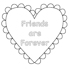 heart friends are forever coloring page valentine u0027s day