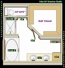 Master Bedroom Closet Size Water Closet Dimensions In Inches Size Free 14x14 Master