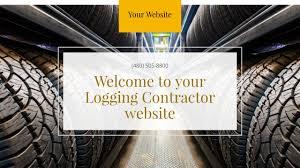 Contractor Logging Contractor Website Templates Godaddy
