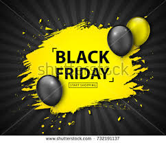 black friday sale poster seasonal discount stock vector 731016031