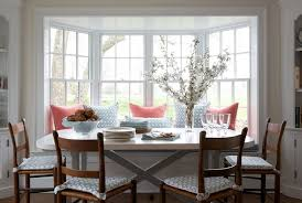 Dining Room Window Ladder Back Chairs Transitional Dining Room Kerry Hanson Design