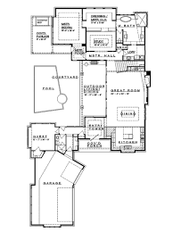 contemporary style house plan 4 beds 4 baths 4237 sq ft plan