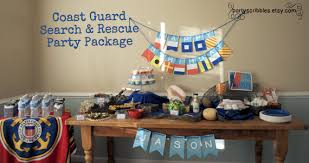 coast guard package with banner promotions retirement