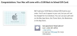 buying gift cards online apple s back to school promo offers 100 itunes card with mac 50