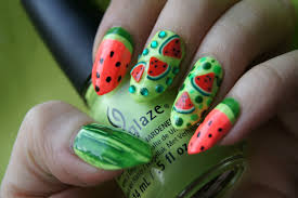 stylevia 15 refreshing summer fruit nail designs