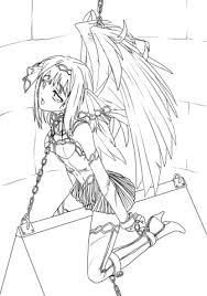 anime slave angel coloring free printable coloring pages