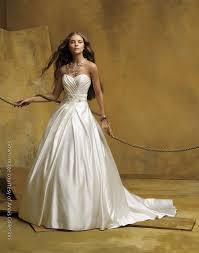 silk satin strapless ballgown with jeweled bridal belt