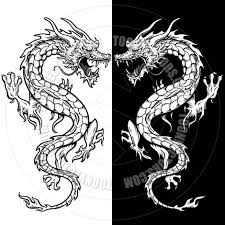 tribal chinese dragon tattoos chinese dragon tattoo style line art by koq creative toon