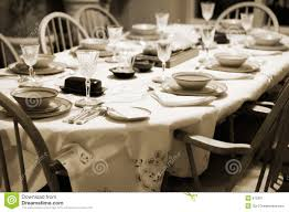 Formal Dinner Place Setting Formal Table Setting At Home Stock Image Image 615391