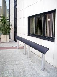 composite benches europe composite standing seat exterior benches from concept