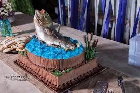 life like blue u0026 grey fish cake groom u0027s cake gallery