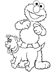 elmo puppy coloring u0026 coloring pages