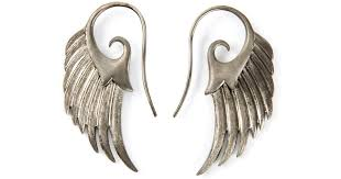wing earrings lyst noor fares wing earrings in metallic