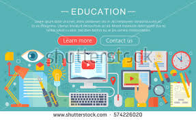 design online education set flat design concept icons web stock vector 574226020 shutterstock