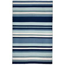 Bright Blue Rug Tasso Bright Stripe Water 3 Ft 6 In X 5 Ft 6 In Rectangle