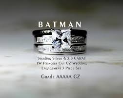 batman wedding ring batman tungsten and 925 sterling silver 2 8 by cloud9tungsten