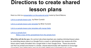 autocrat lesson plans directions google docs