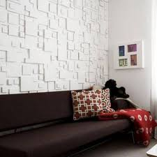 interior design on wall at home contemporary living room interior