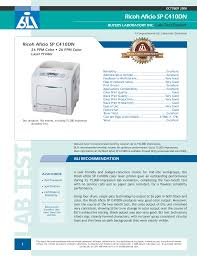 download free pdf for ricoh aficiosp c410dn printer manual