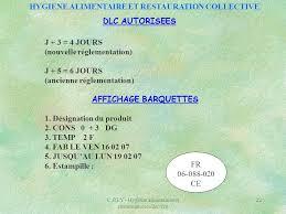 cuisine collective reglementation hygiene alimentaire et restauration collective ppt