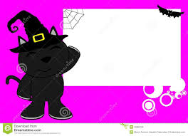 kid halloween background black cat halloween cartoon kid background stock illustration