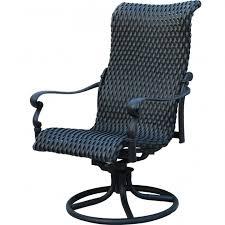 High Back Patio Chair Cushion Vintage High Back Swivel Rocker Patio Chairs Cushion White Photo