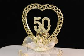 50th wedding anniversary cake toppers 50th wedding anniversary cake topper golden anniversary cake
