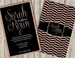 and black wedding invitations glitter wedding invitations gold glitter invitations black