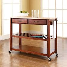 crosley furniture kitchen cart shop crosley furniture brown craftsman kitchen cart at lowes com