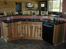 pleasing knotty hickory kitchen cabinets great interior design