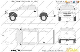 Dodge Dakota Truck 2015 - the blueprints com vector drawing dodge dakota quad cab 131 4x4