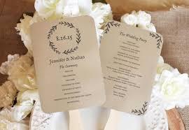rustic wedding program printable wedding fan program rustic wedding program editable