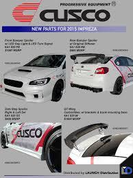 subaru cusco cusco new body kit for 2015 subaru impreza launch distribution
