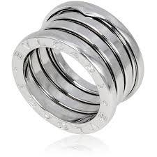 white gold band bvlgari b zero1 4 band 18k white gold ring size 6 5 bvlgari