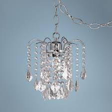 Chandelier Acrylic Dining Room Amazing Plug In Chandelier Crystal And Acrylic Swag