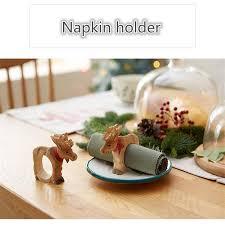 4pcs lot carved wood carving crafts napkin holder ornaments