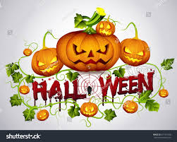 happy halloween text bannervector design happy stock vector