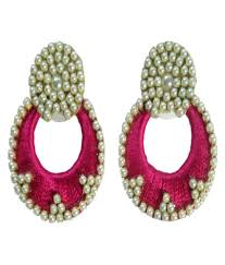 crp fashion silk thread earrings buy crp fashion silk thread