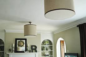 Drum Shade Ceiling Light Fixtures How To Hang A Drum Shade The Decorologist