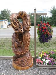 awesome wood stump carvings sculptures 5 dragons