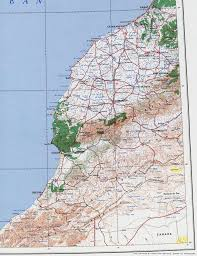 Morocco Africa Map by