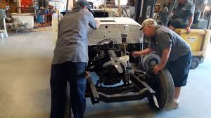 custom willys jeepster dropping body onto chasis of 1948 willys jeepster youtube
