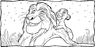 printable coloring pages lion king sweet simba nala coloring