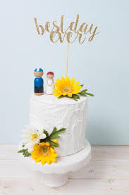 best cake toppers best day cake topper wedding cake topper gold glitter cake