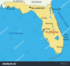 Florida Map Orlando by Florida Vector Map Stock Vector 244423423 Shutterstock
