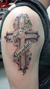 39 memorial cross tattoos ideas