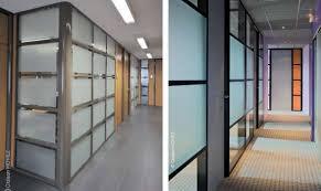 cloisonnette de bureau cloison amovible de bureau coulissante ou vitrée en alsace