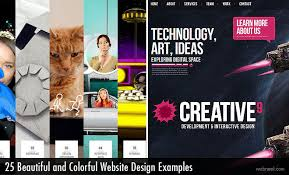 25 Examples Of Creative Graphic by Beautiful And Colorful Website Design Examples For Your Inspiration